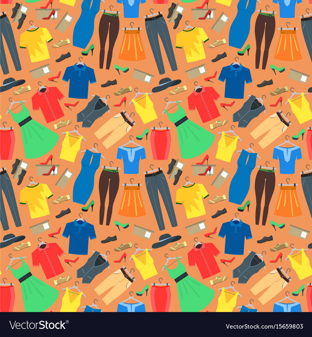 Man and woman clothes background pattern