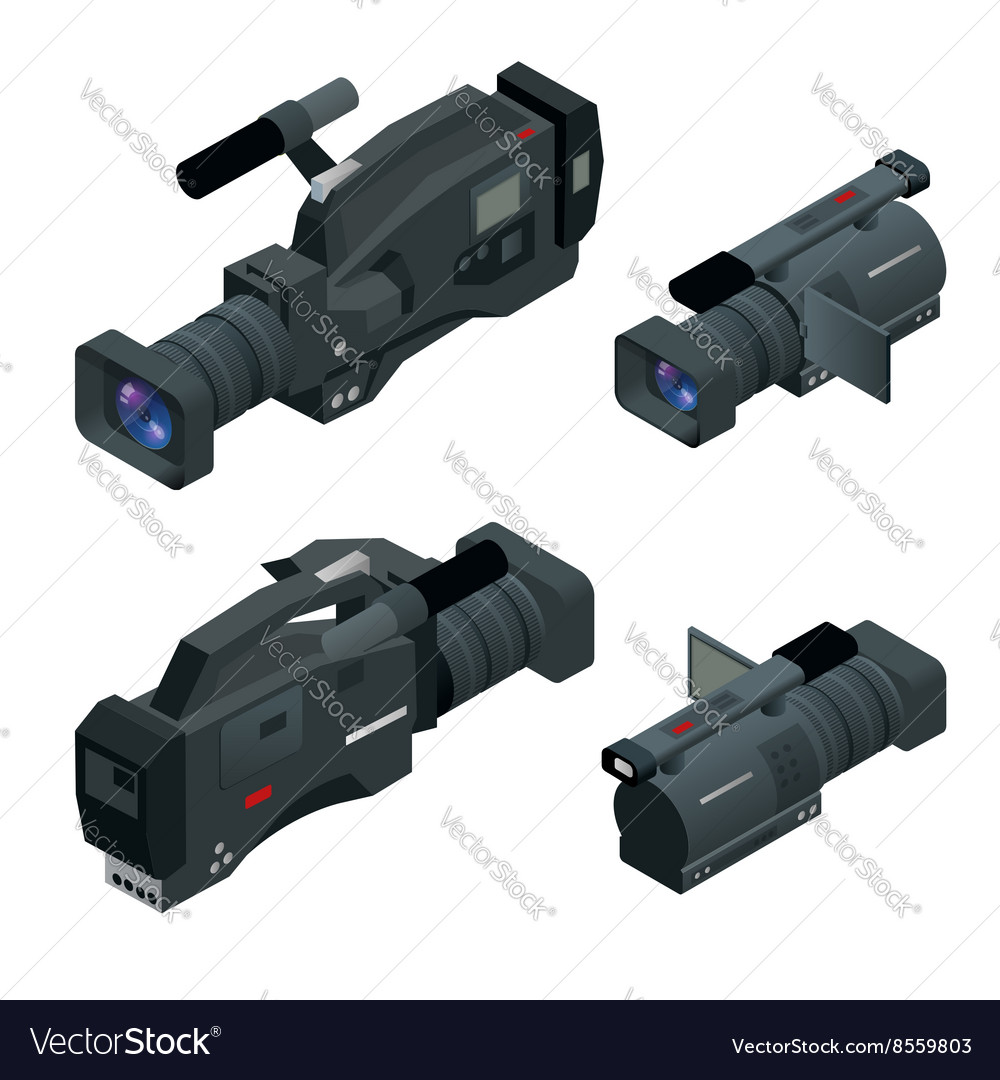 Professional digital video camera set Film lens