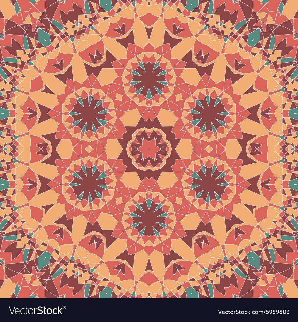 Seamless oriental square pattern