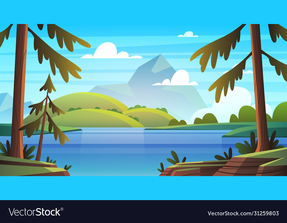 Summer sea landscape ocean seashore panorama bay