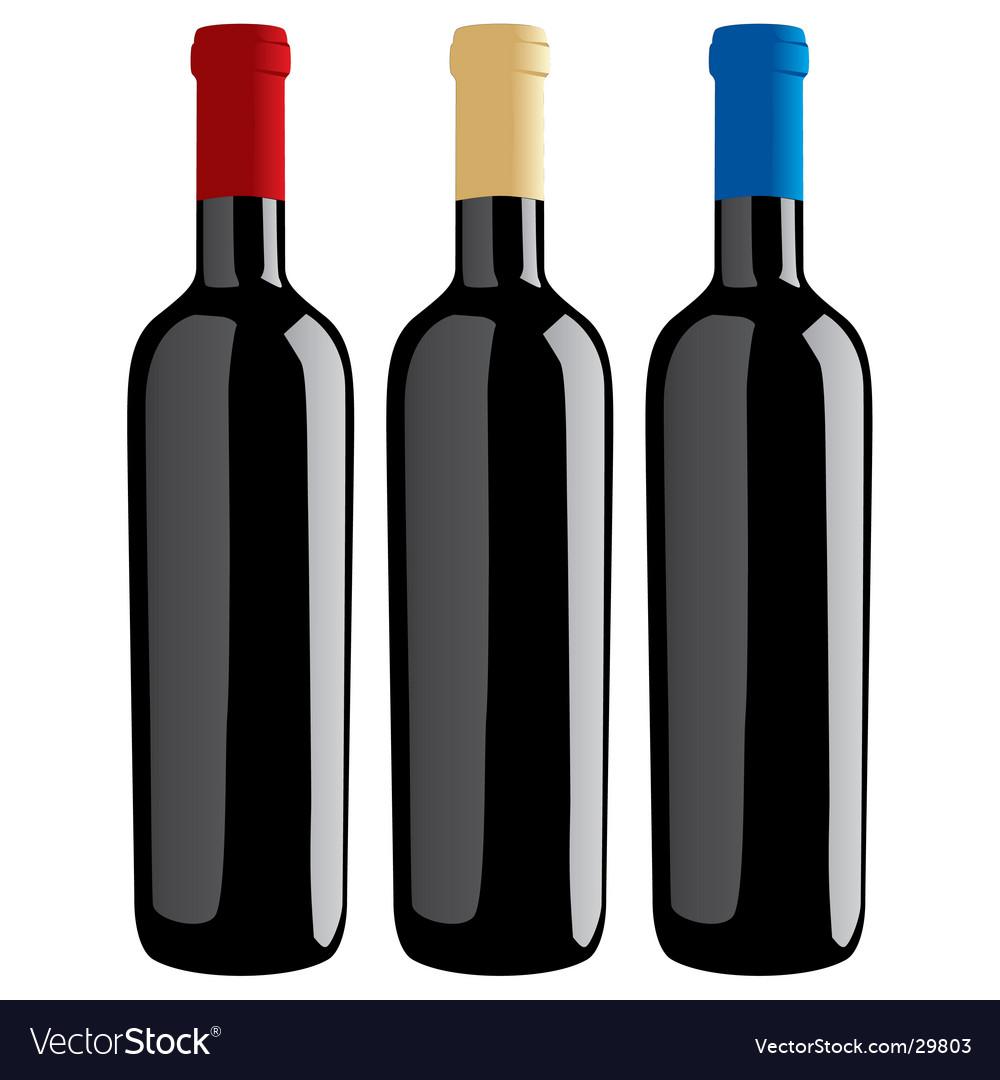 Wine bottles classic shape
