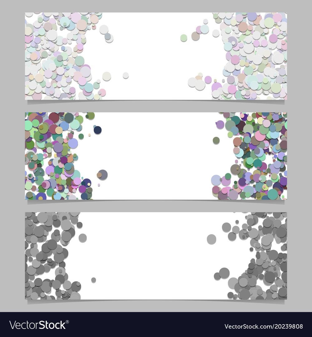 Abstract banner template set with colored dots