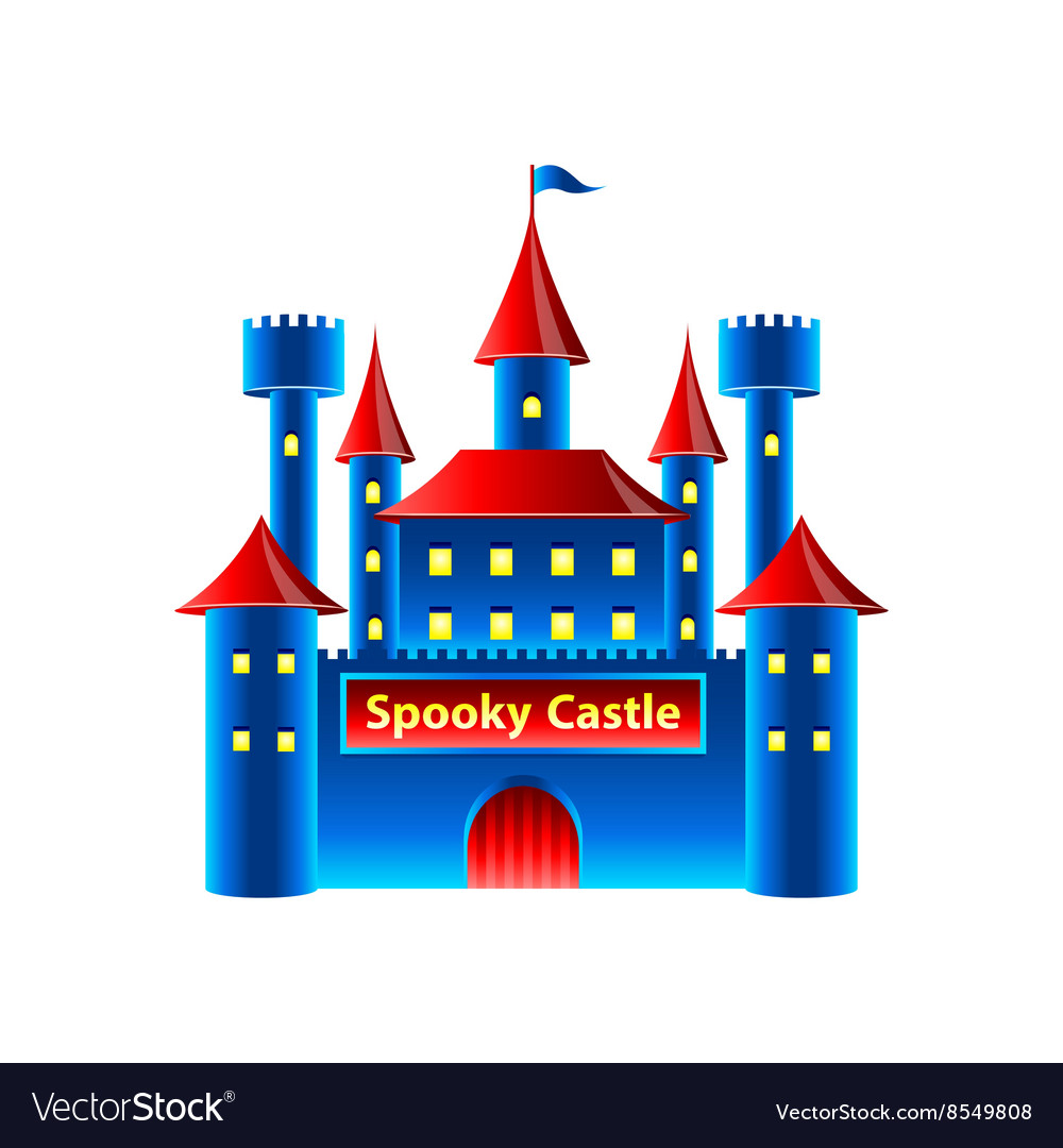 Horror castle isolated on white
