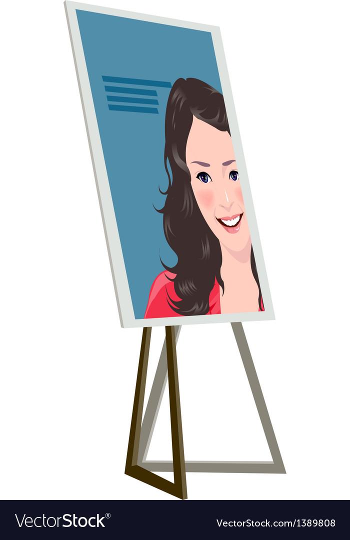 Icon notice board vector image