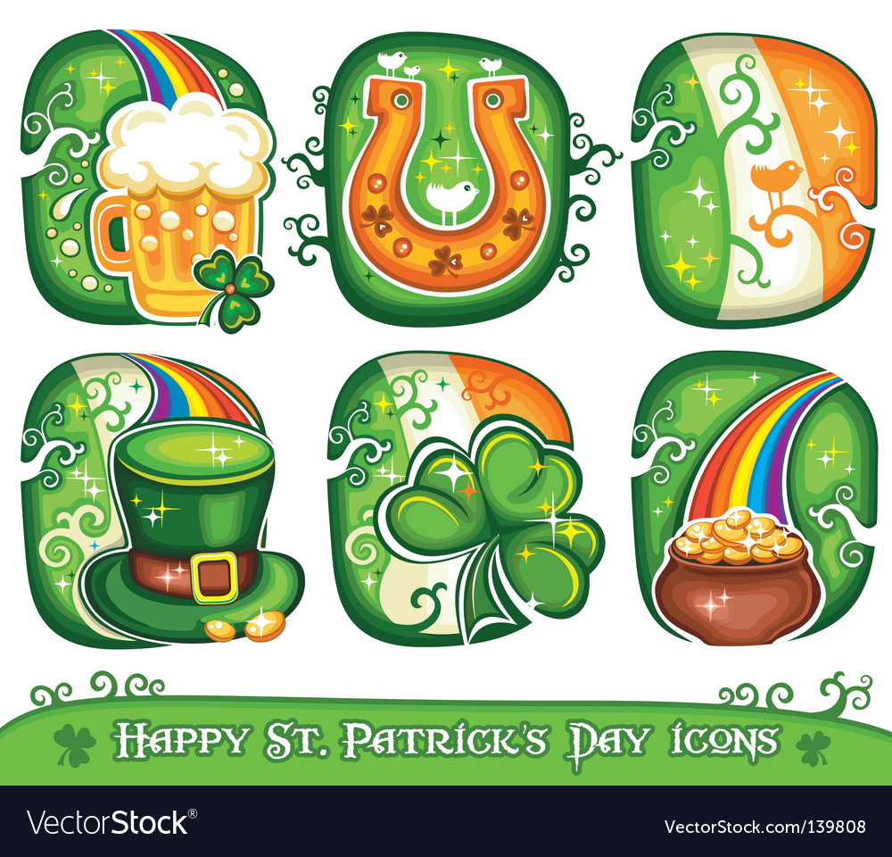 St Patrick's Day icons
