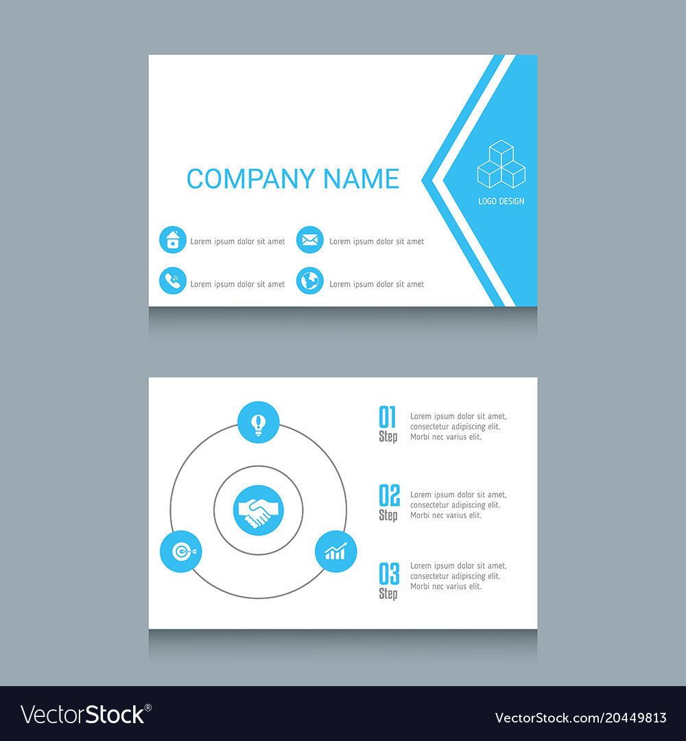 Business card template business card template vector image accmission Gallery