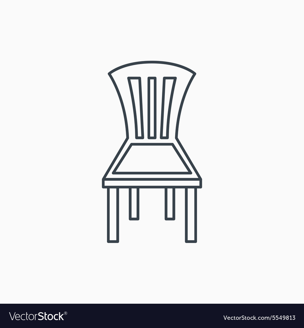 Chair icon Seat furniture sign