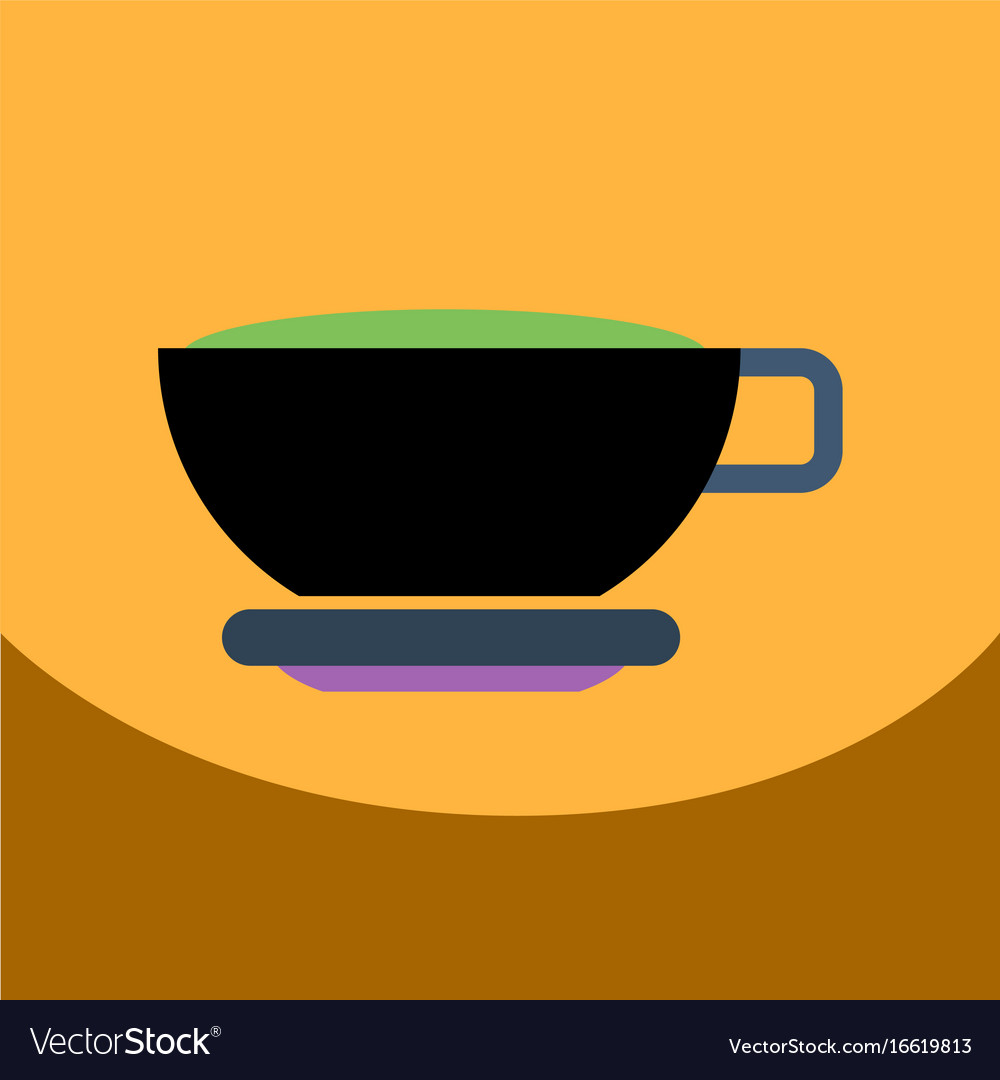 Flat icon design collection cup of tea