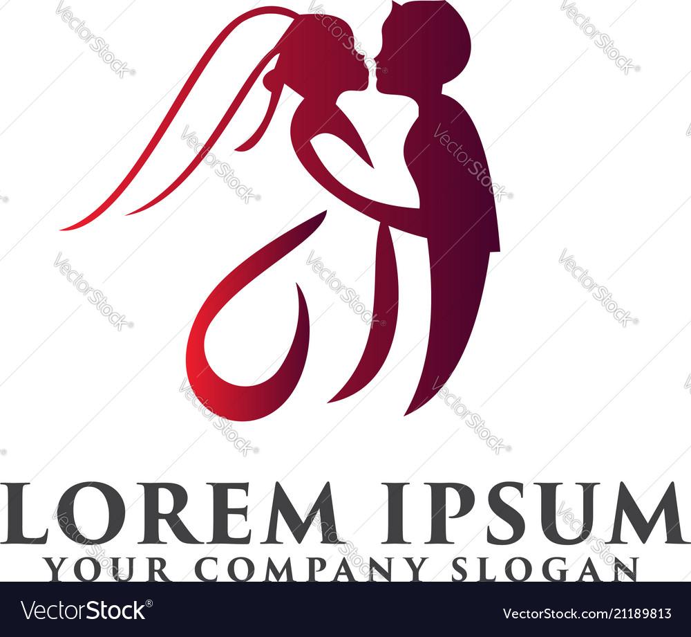 Media love logo photography logo design concept