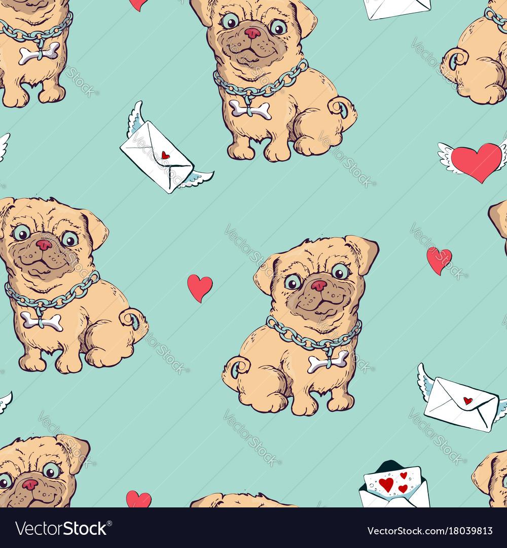 Seamless pattern with dogs childish pattern