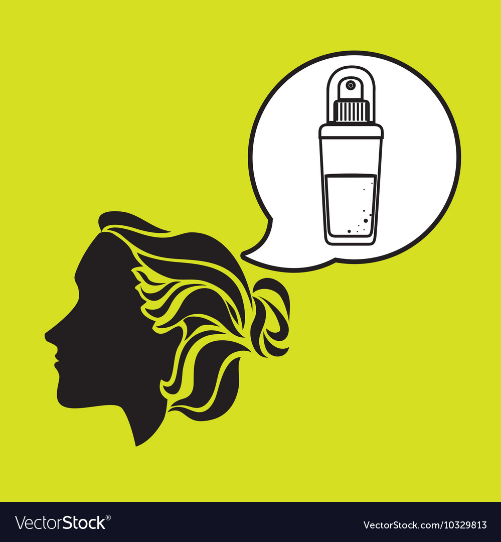 Silhouette cosmetic stylist icon