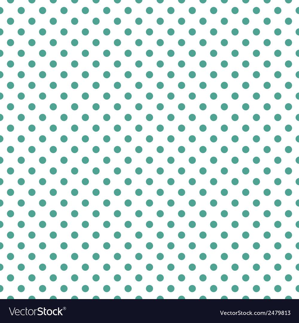 Tile green polka dots on white background Vector Image