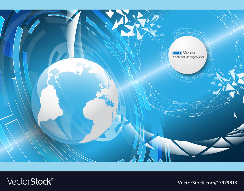 World globe with abstract elements vector image