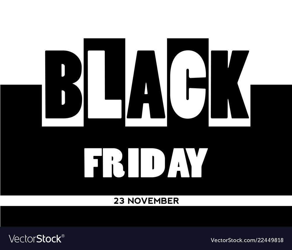 Black friday sale banner on unusual background