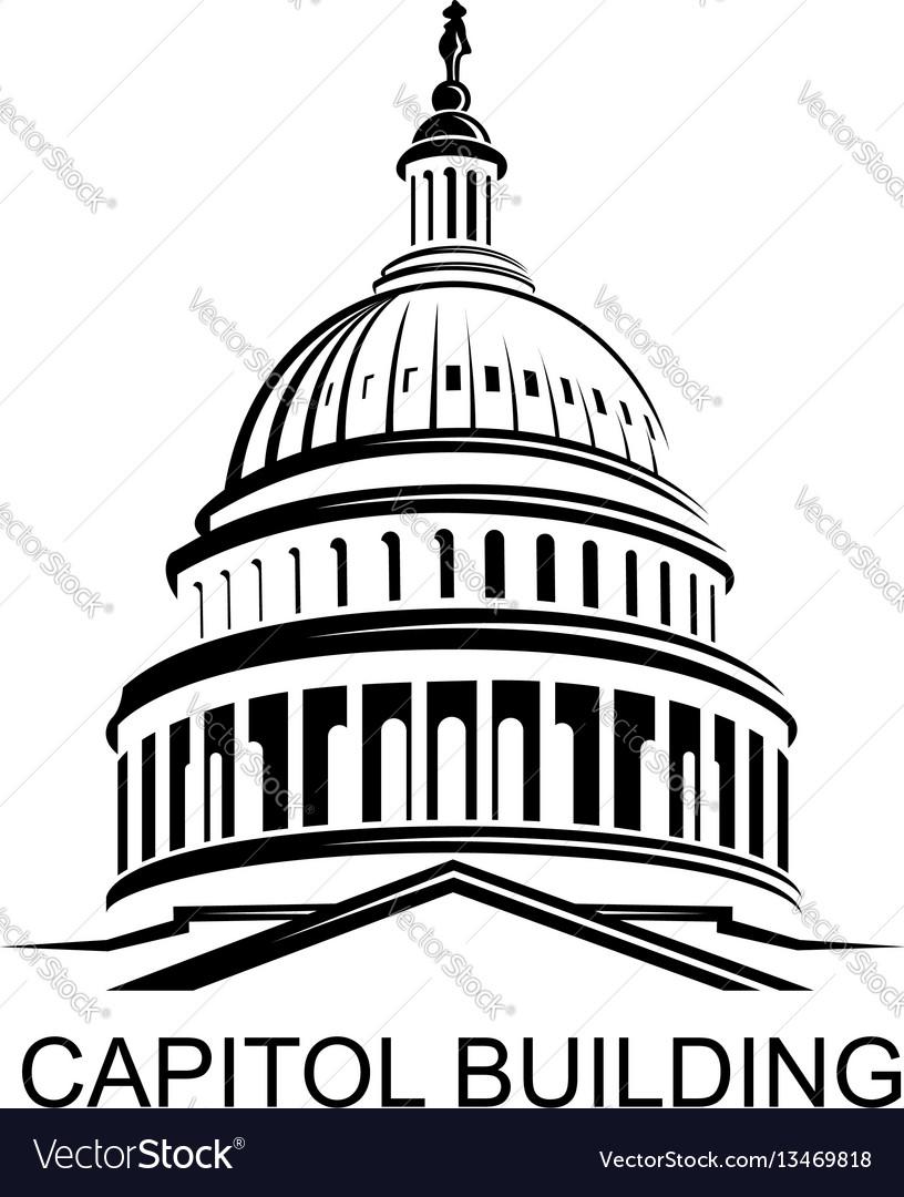 capitol building icon royalty free vector image rh vectorstock com capitol records building vector capitol building outline vector