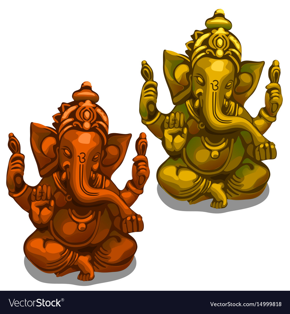 Figurines of the indian deity of ganesha