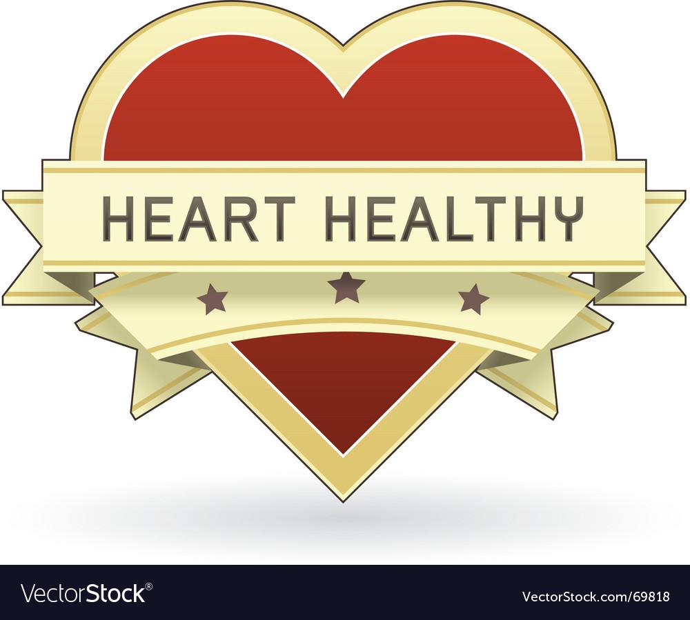 Healthy food label vector image