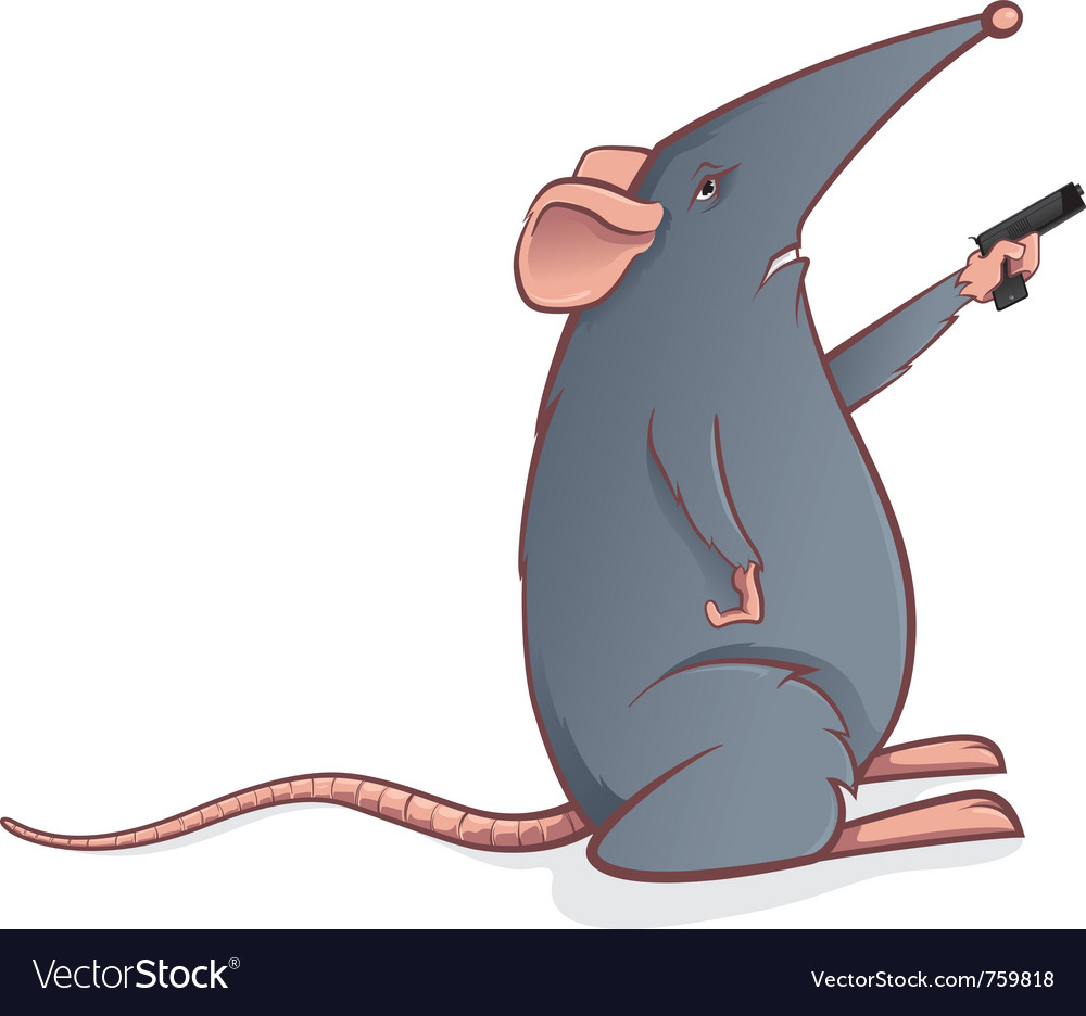 Mouse with gun