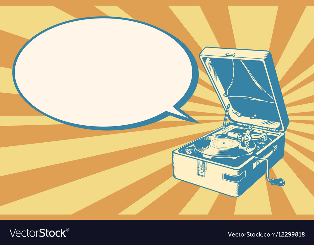 Musical retro turntable