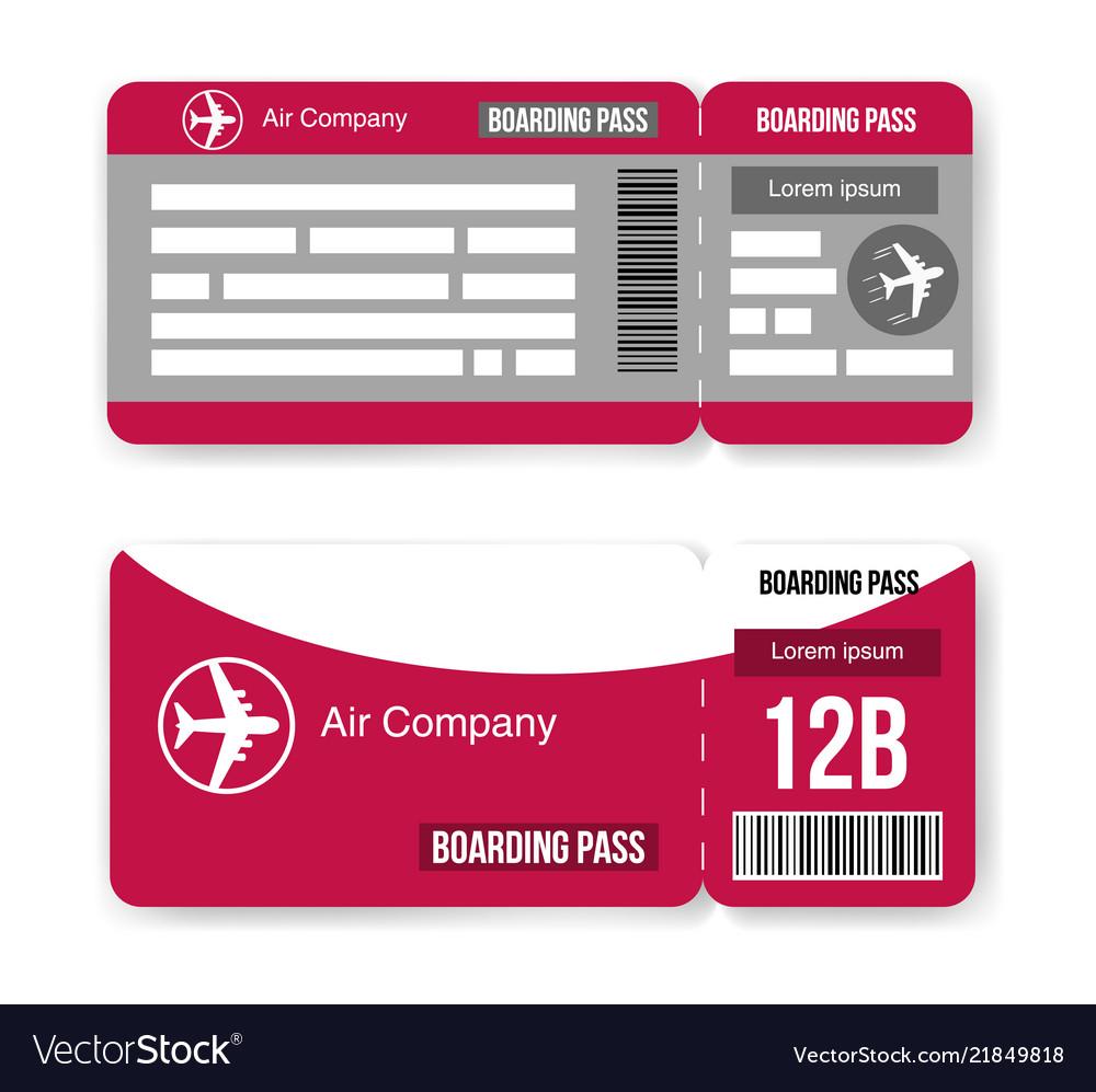 Boarding, Pass, Ticket, Wedding & Invitation Vector Images (31)