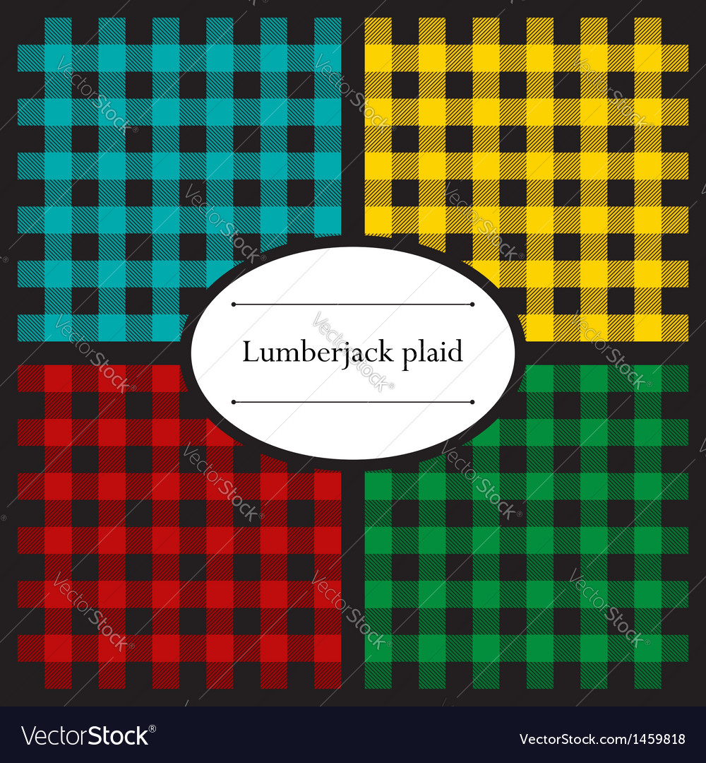 Set lumberjack plaid patterns