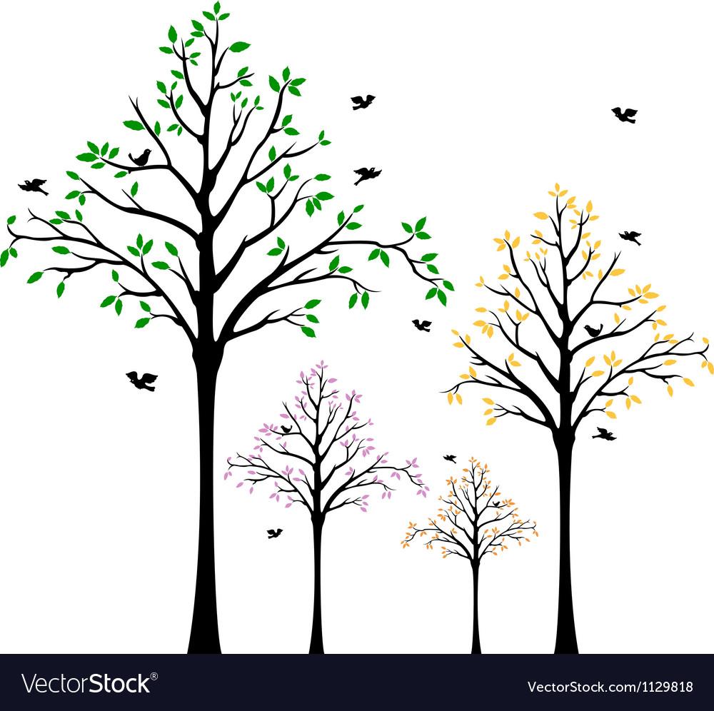 Tree Wall Decal Royalty Free Vector Image Vectorstock