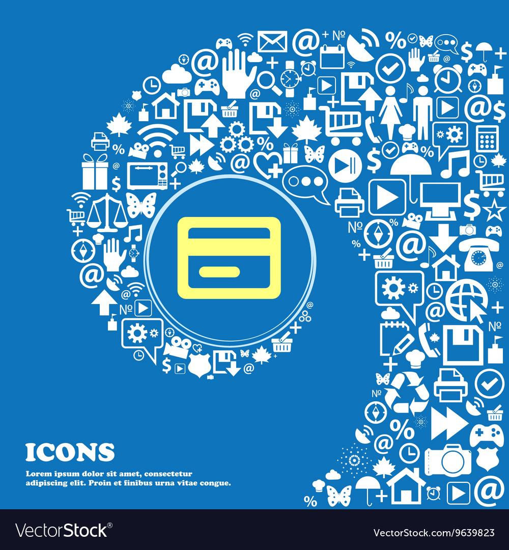 Credit card sign symbol Nice set of beautiful vector image on VectorStock