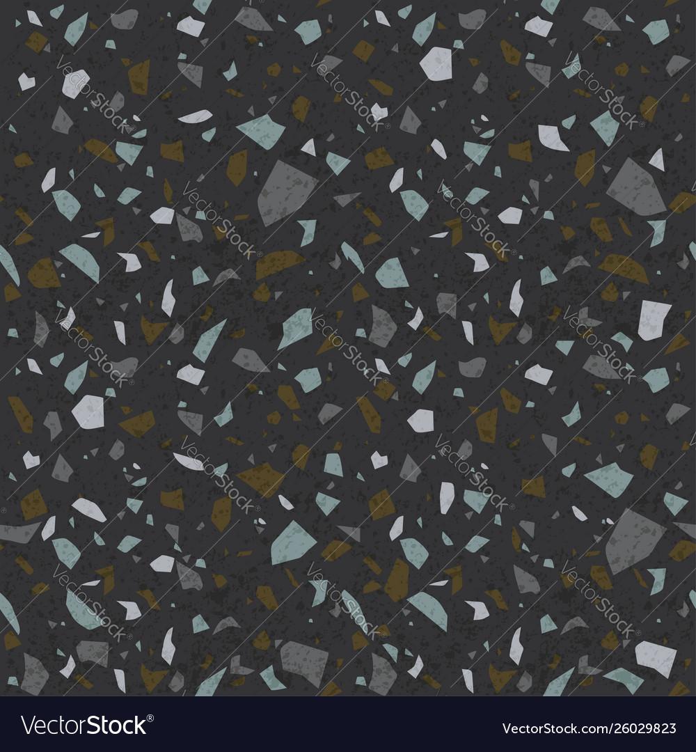 Dark Terrazzo Texture Stone Flooring Background