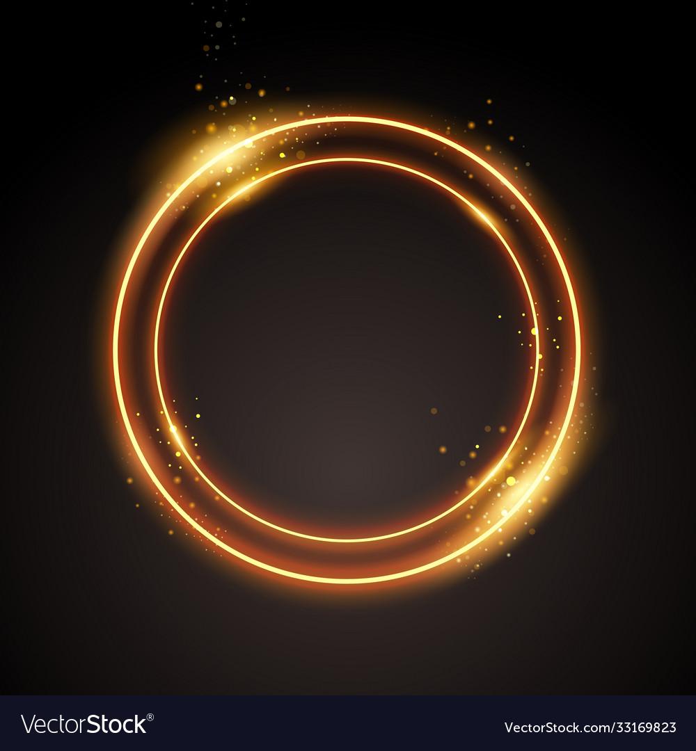 Gold circle modern golden sparkle light