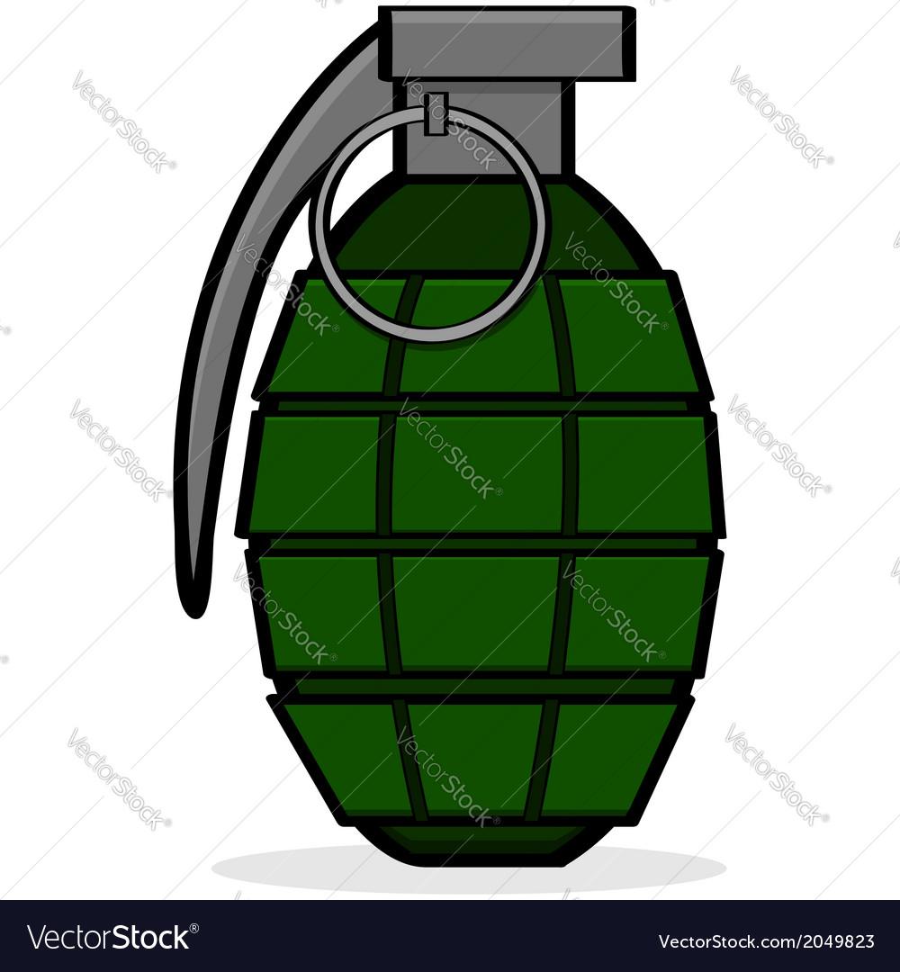 hand grenade royalty free vector image vectorstock rh vectorstock com grenade vector png grenade vector png
