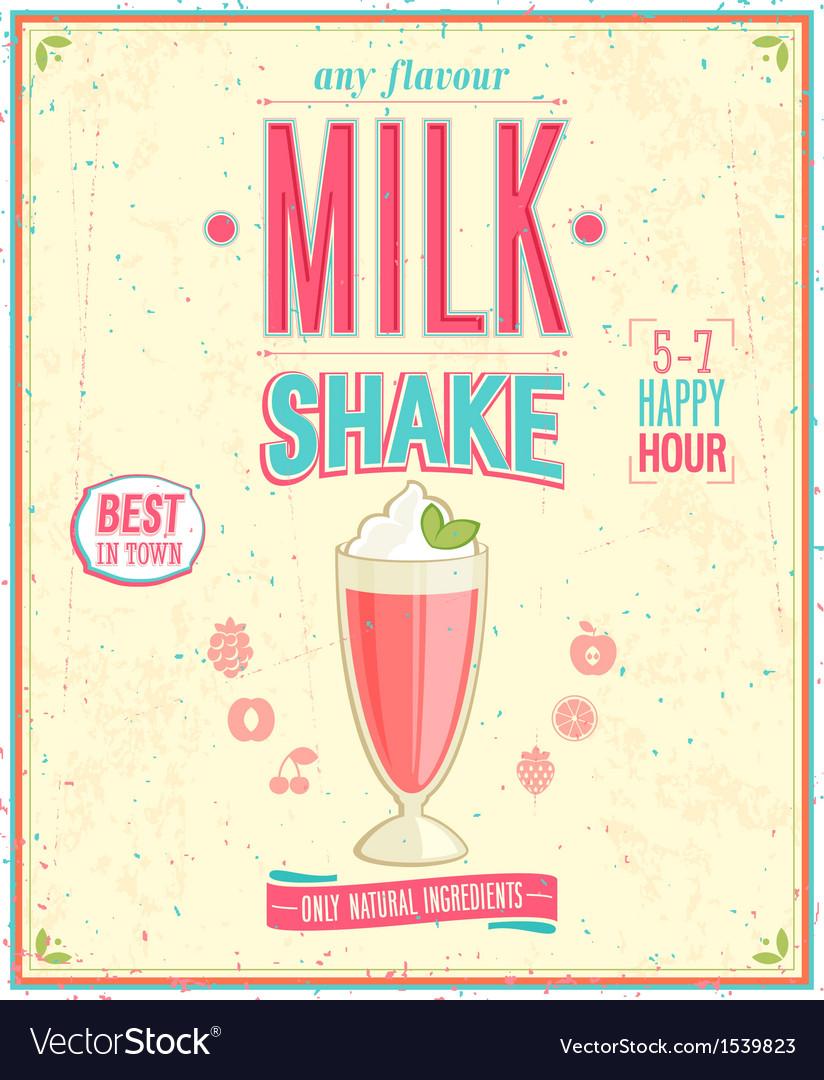 Milk Shake Poster