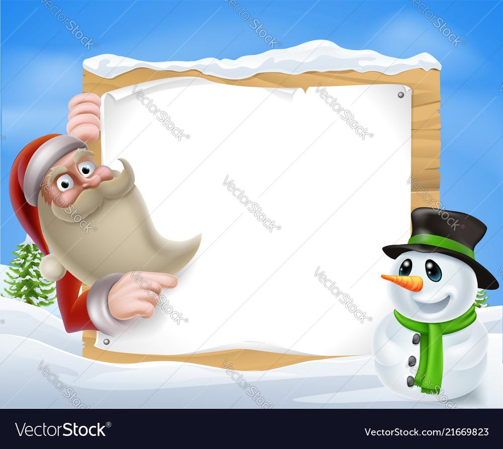 Santa christmas winter scene