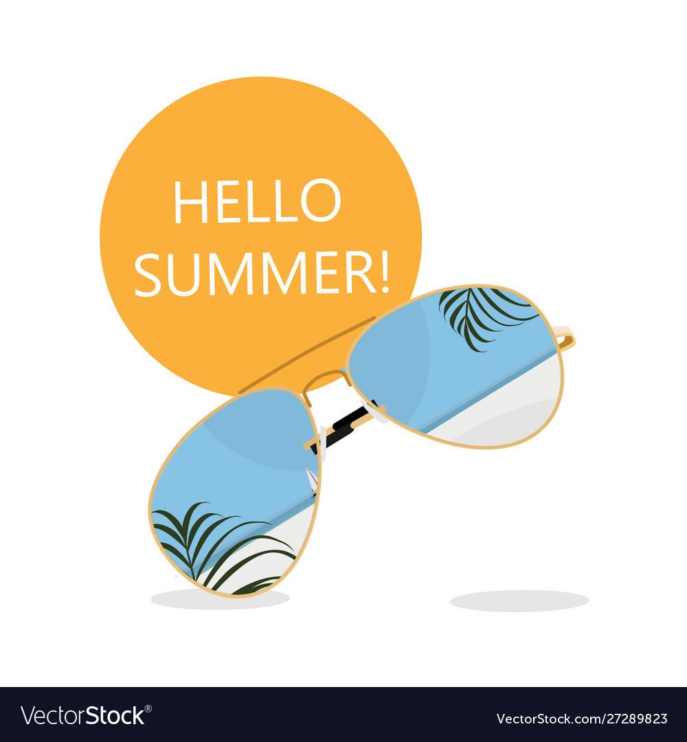 Summer time banner background design with