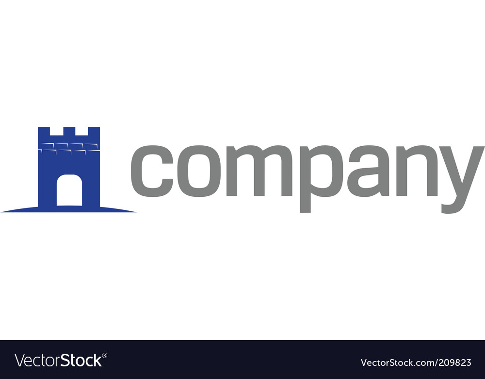 Tower symbol for strong business vector image