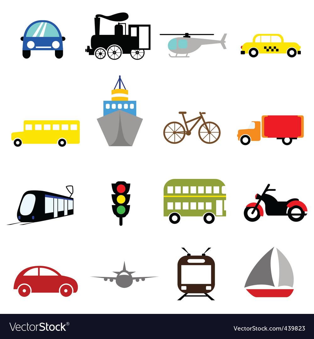 Transportation icon vector image