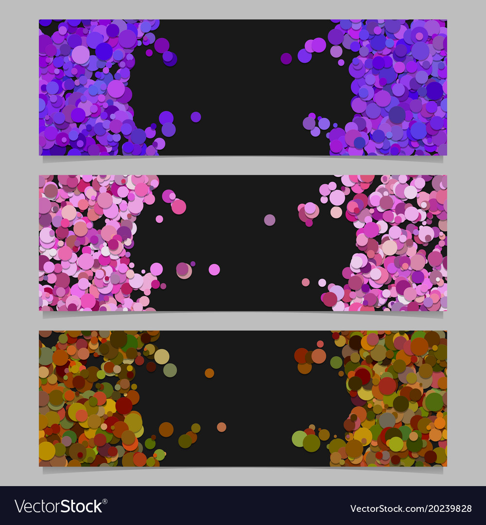 Abstract banner template set with colored circles