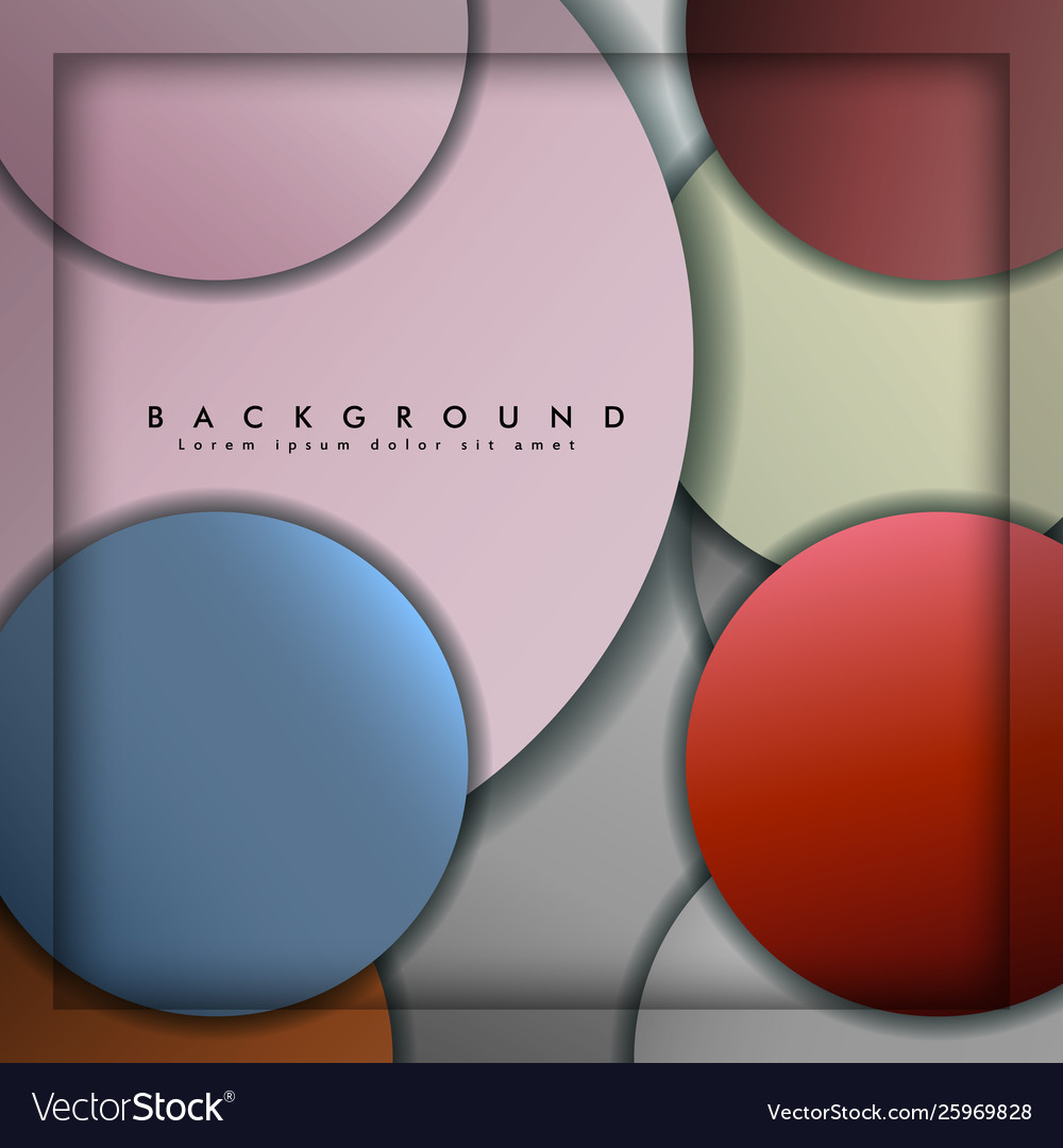 Abstract circle background with color stone and