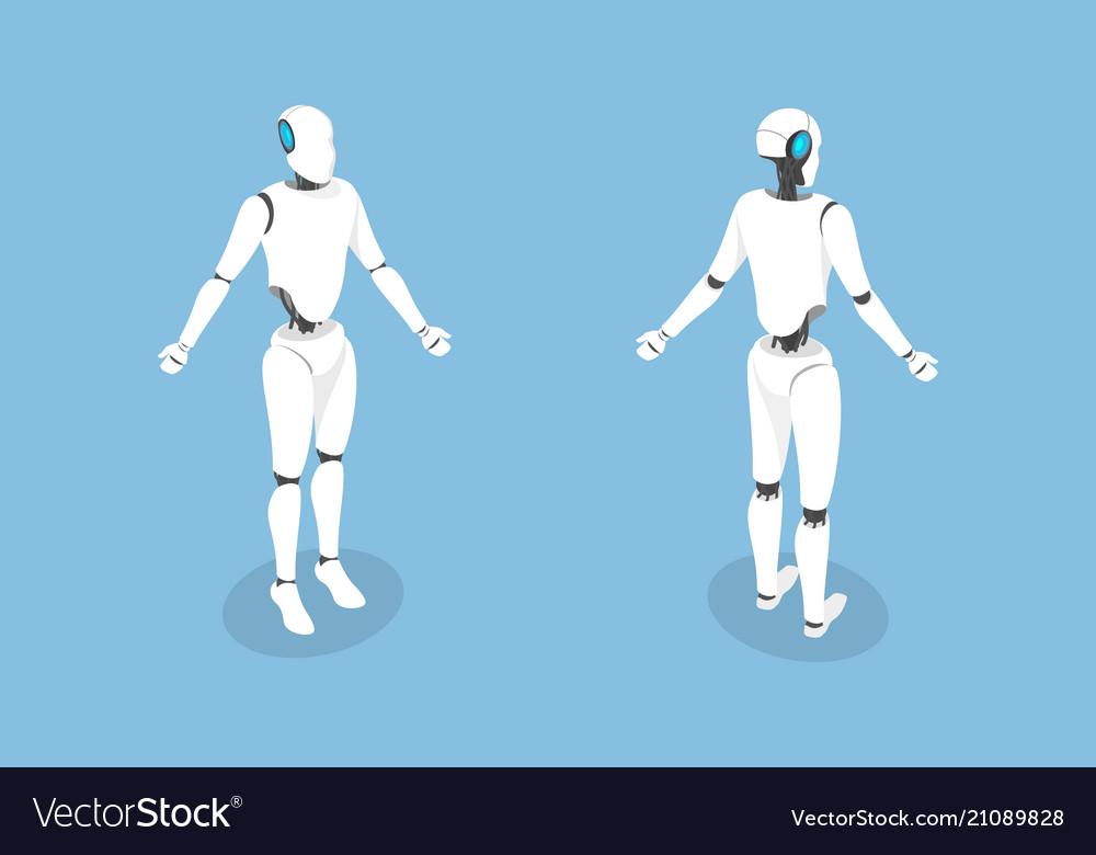 Cyborg flat isometric