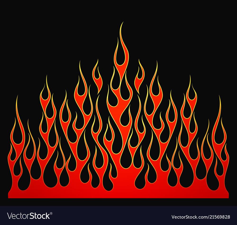 Fire flames element