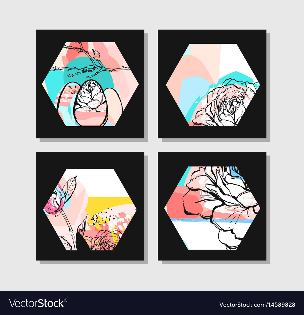 Hand drawn abstract creative unusual modern vector image