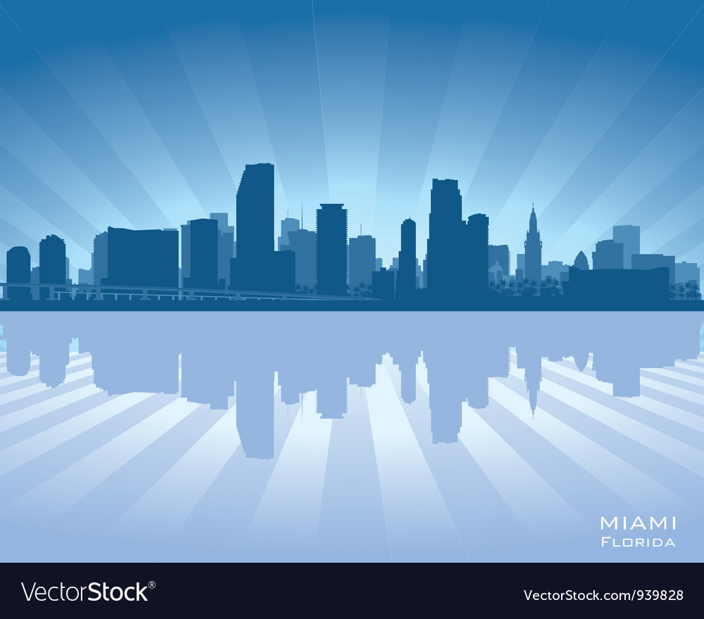 Miami Florida skyline vector image