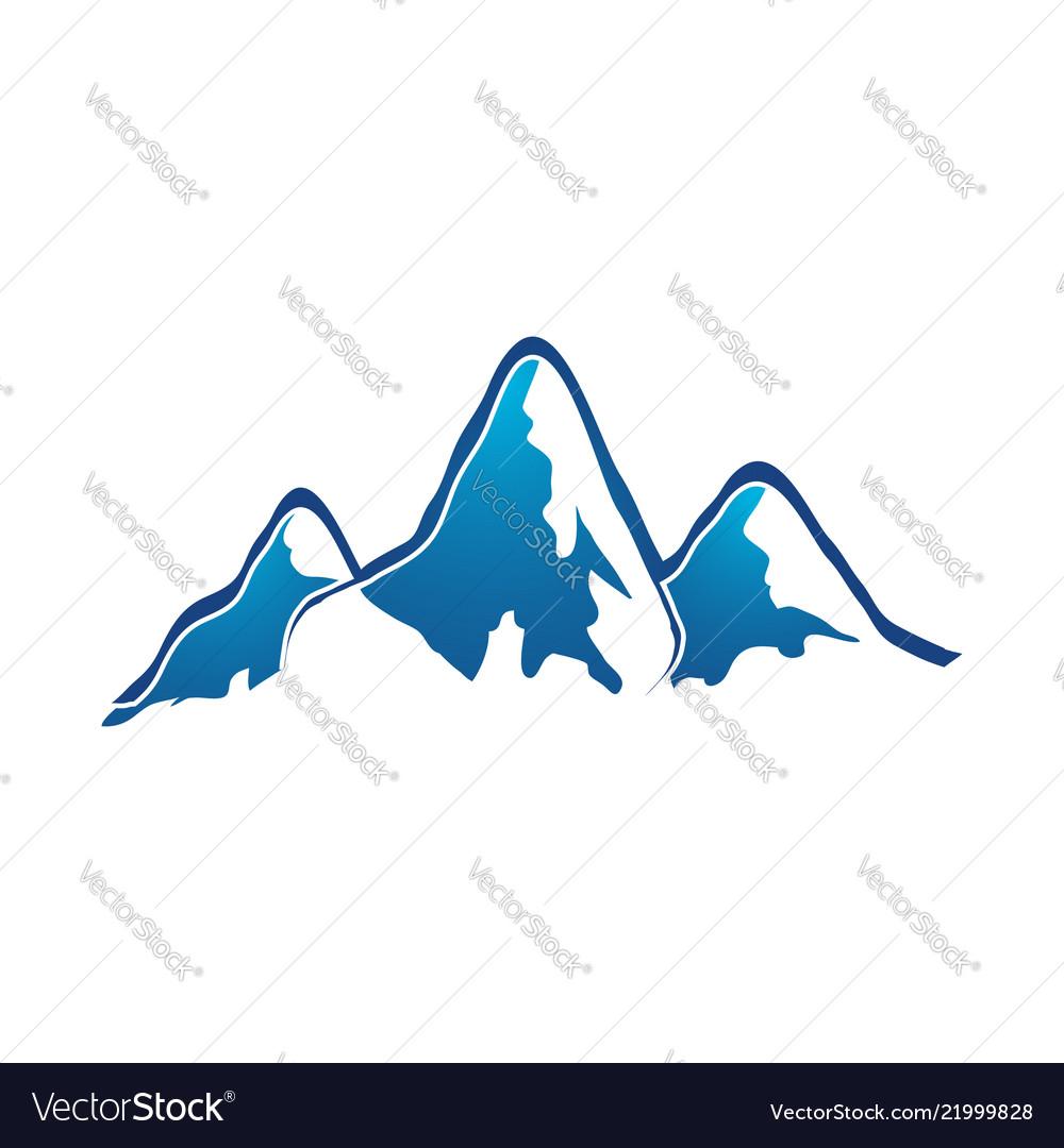 Mountain logo elegant mountain logo design eps10