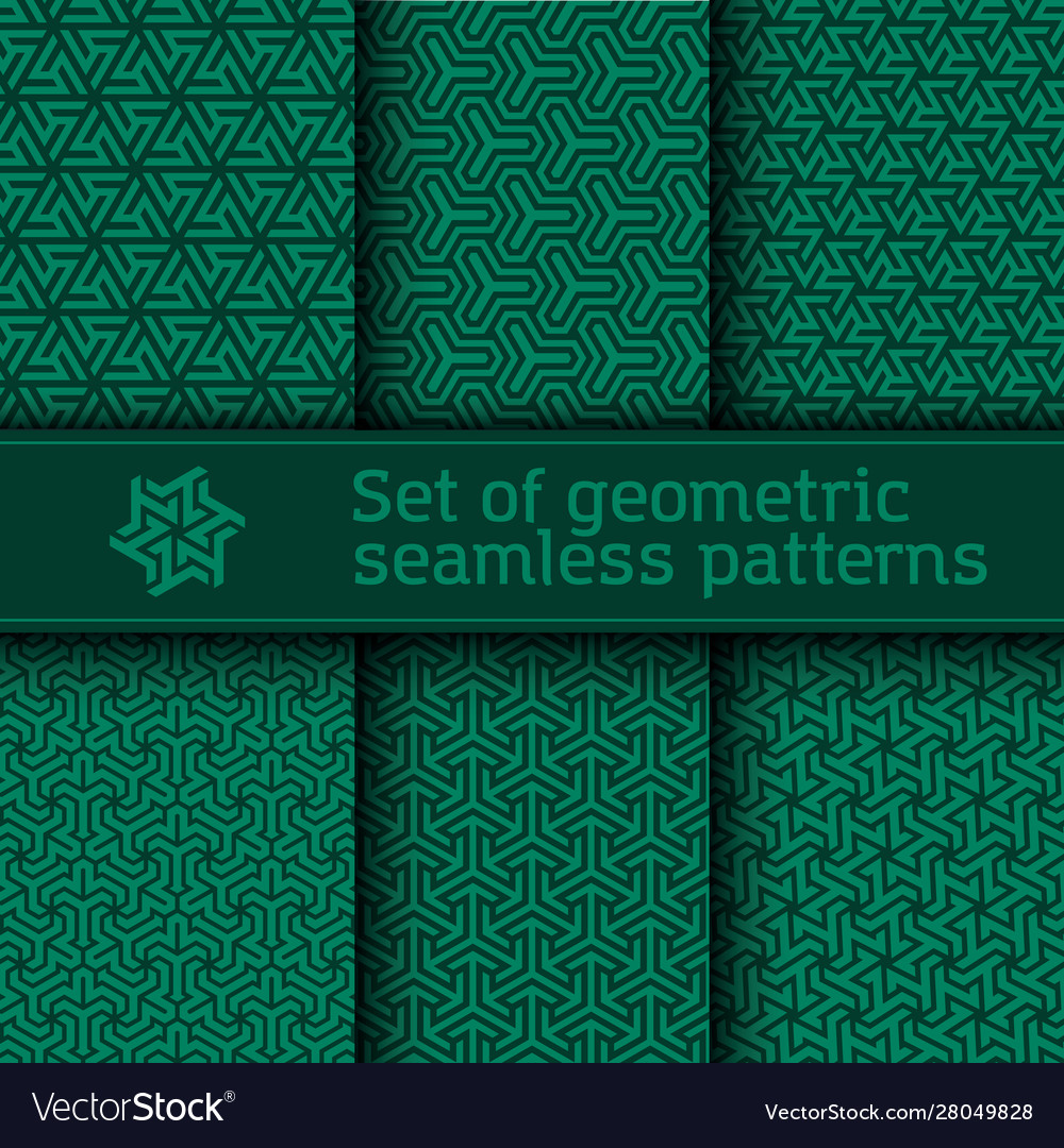 Seamless pattern with geometric tessellation style