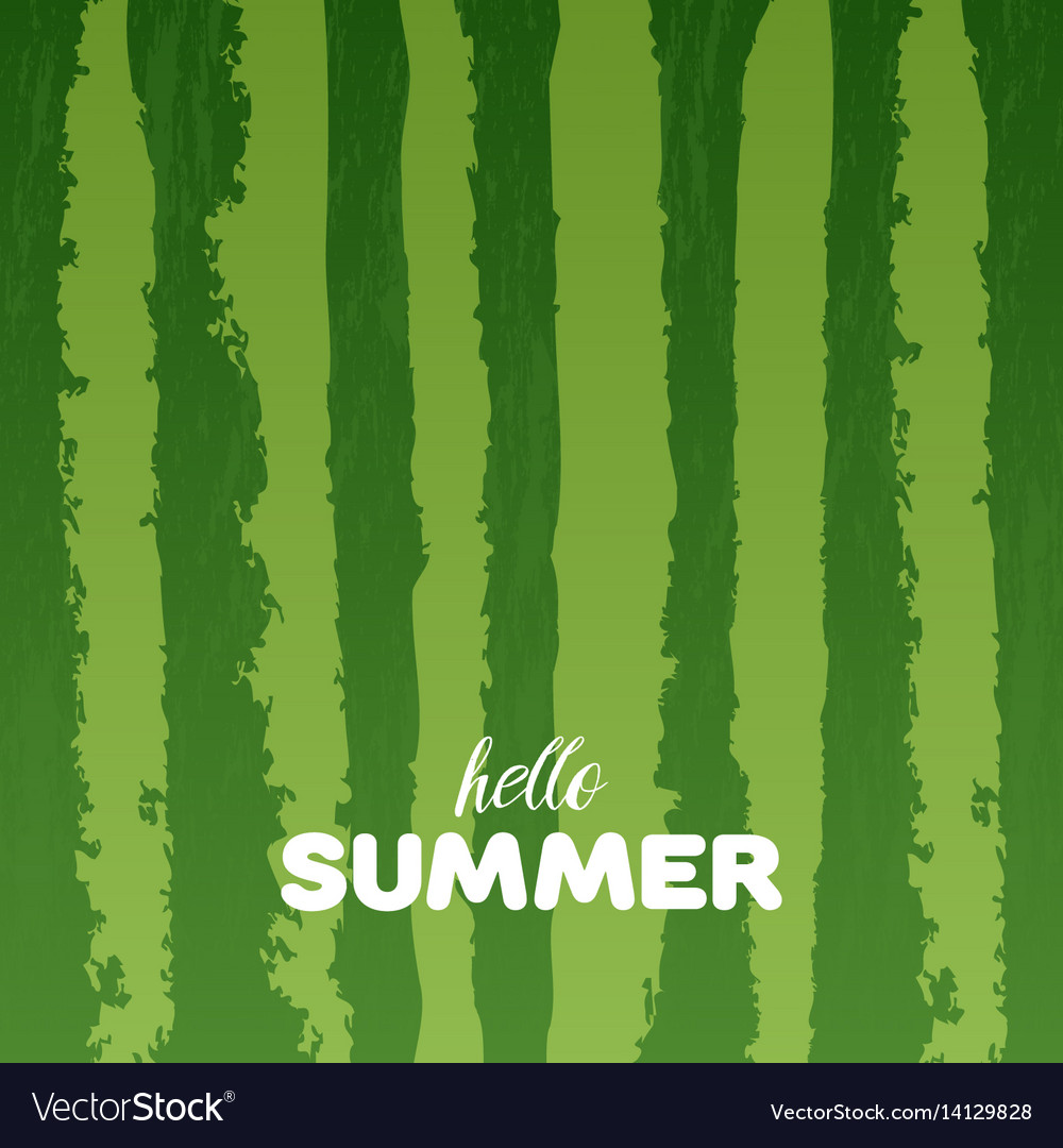 Watermelon green texture background with hello