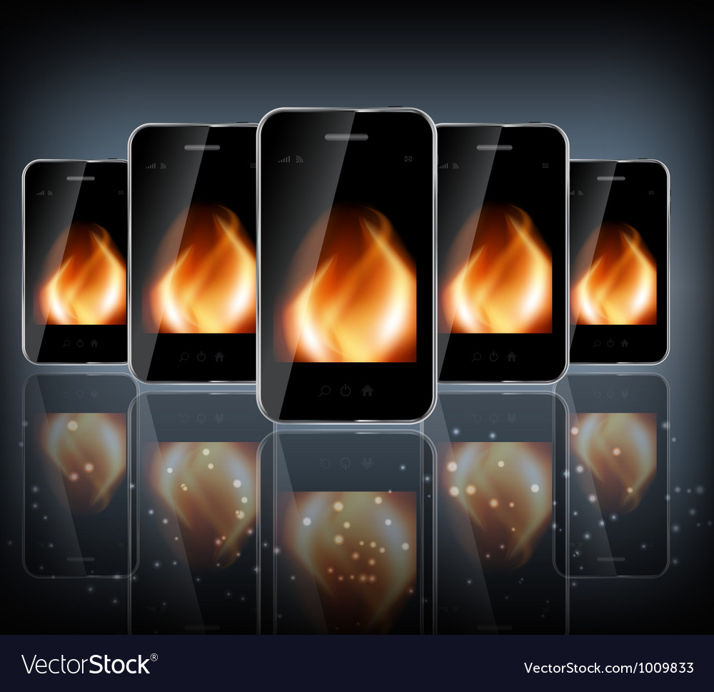 Abstract design phone for different business