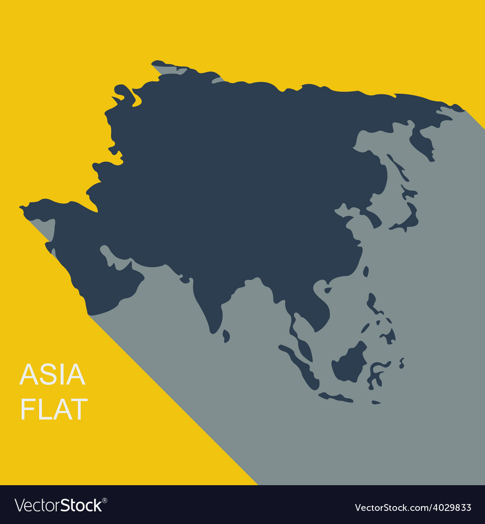 Asia Flat style vector image