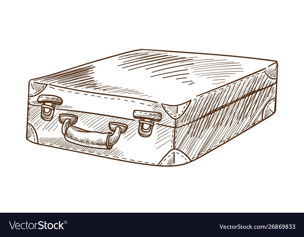 Briefcase or suitcase luggage or bag retro