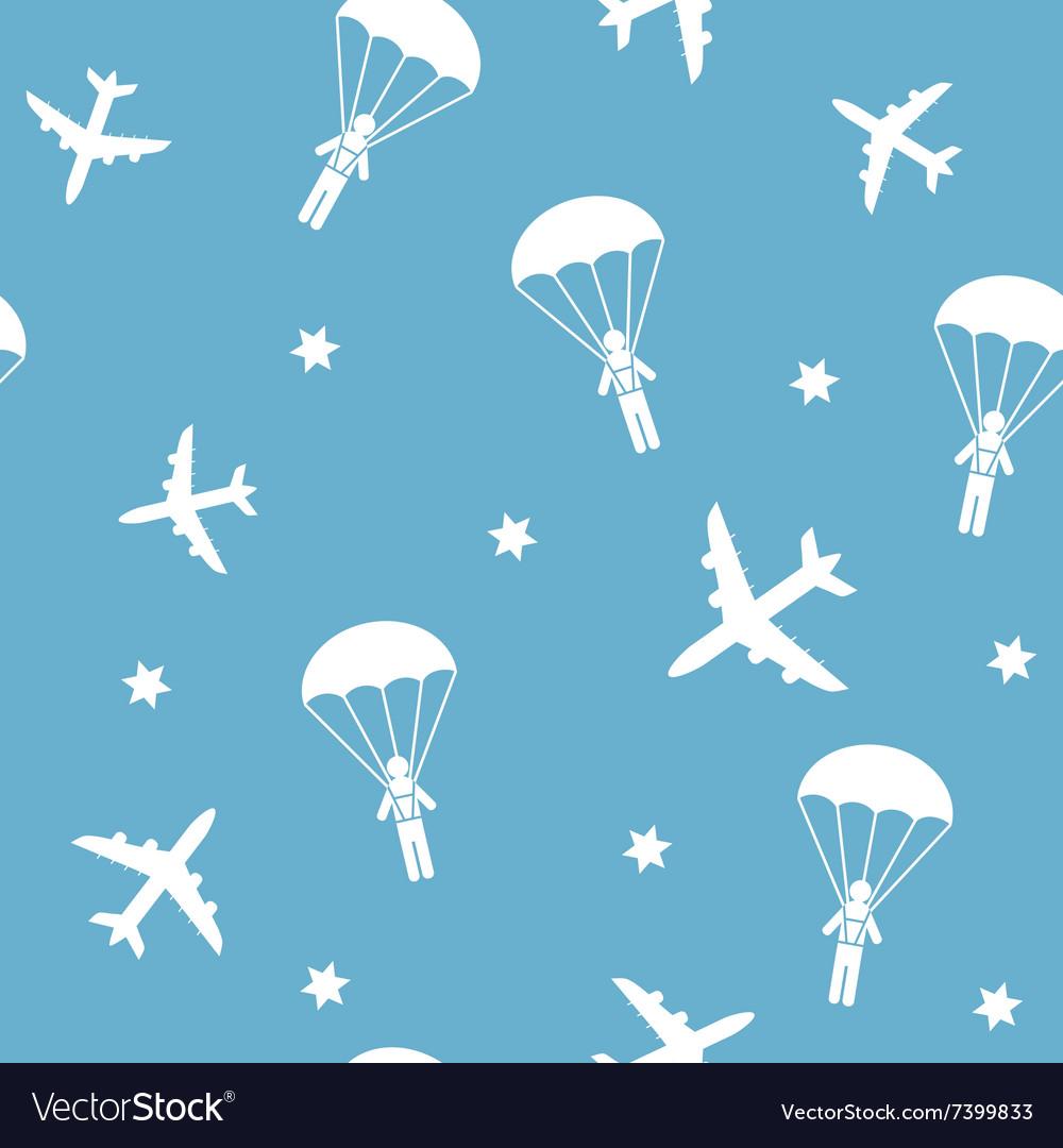 Cartoon Airplane seamless pattern
