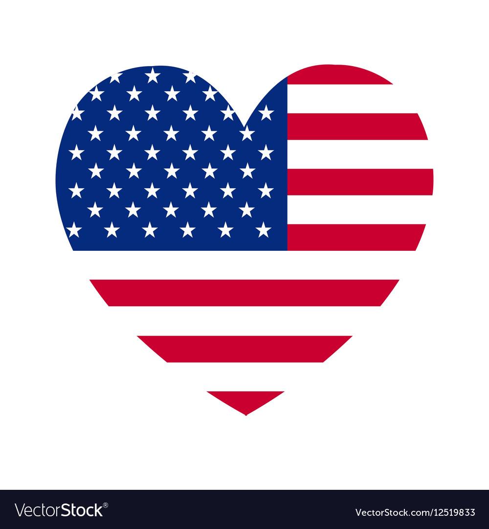 Heart of America flag vector image