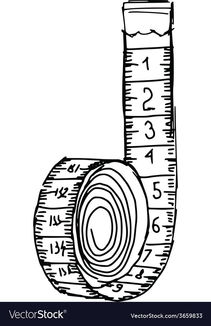 Картинка сантиметровой ленты для метрики